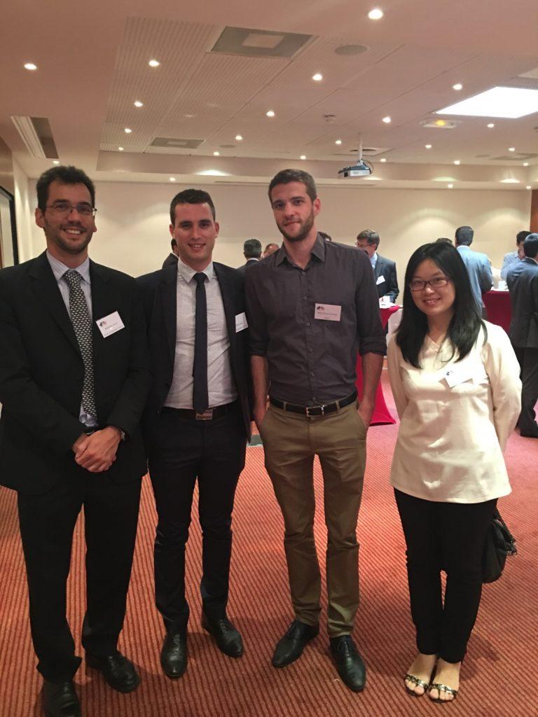 Antoine FERRAN (left) & Linlin ZHU (right), Delegates of TBS Aerospace MBA Full-Time FT17