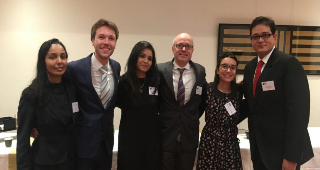 The TBS Team (left to right): Karen Fernandes, Johann Gies, Aishwarya Kumar, Dr. Christophe Bénaroya (Director Aerospace MBA), Maria Clara Soares, Joydeep Paul Chowdhury
